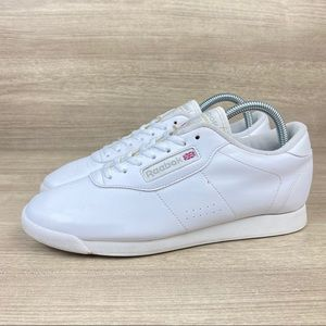 Reebok Classic 039501 White Leather Running Shoes